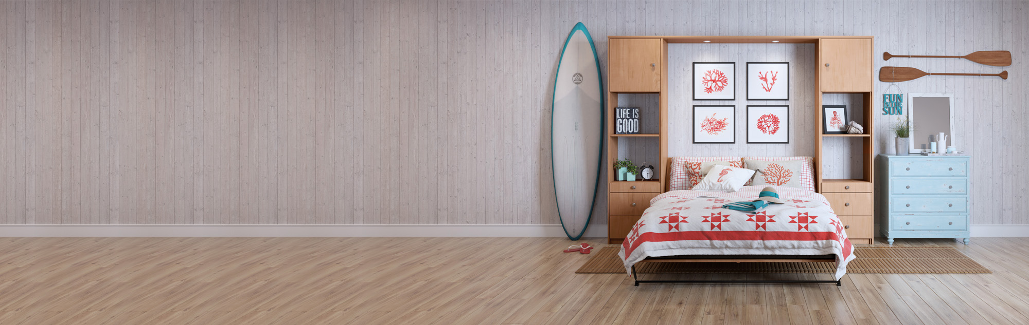 Beach house with Murphy Bed